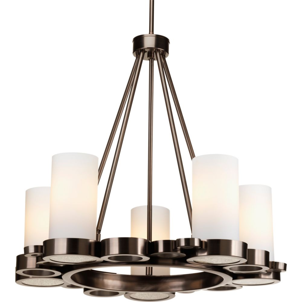 Bingo Collection 5-light Venetian Bronze Chandelier