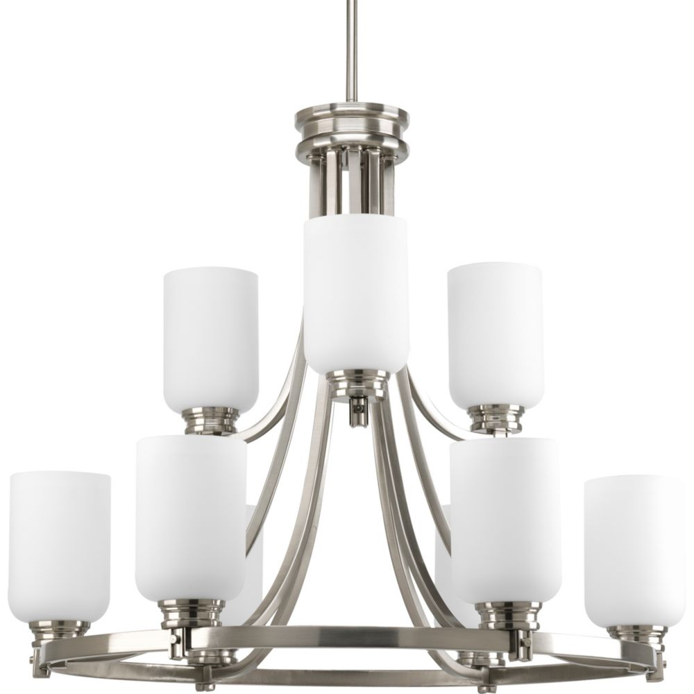 Progress Lighting Orbit Collection Brushed Nickel 9-light Chandelier