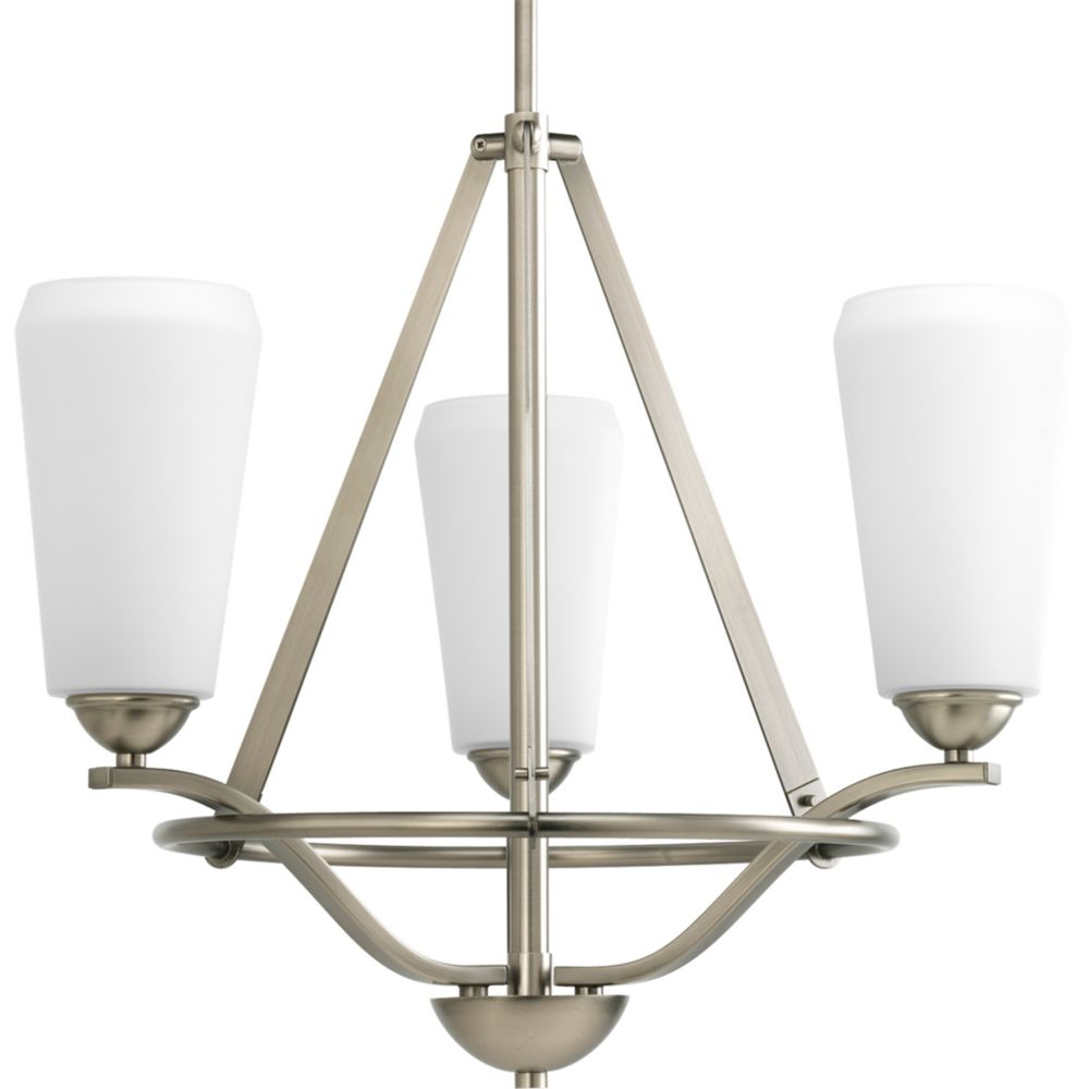 Moments Collection Antique Nickel 3-light Chandelier