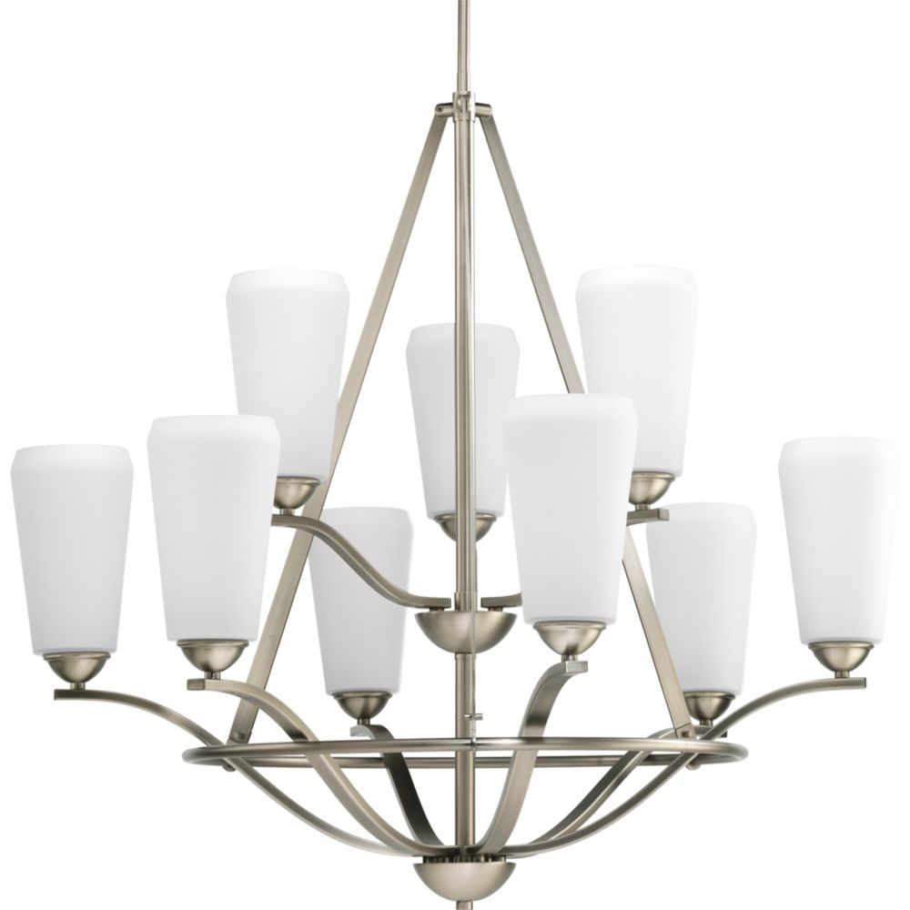 Moments Collection Antique Nickel 9-light Chandelier
