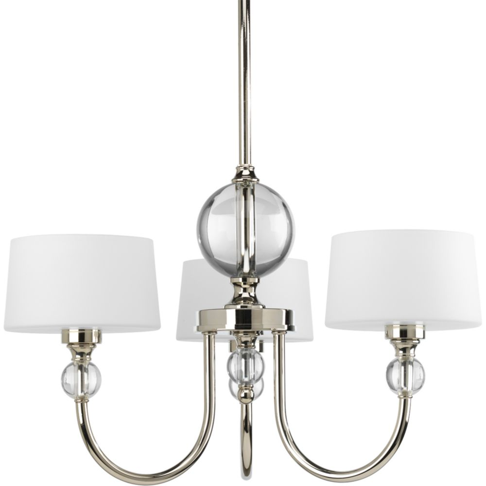 Fortune Collection Polished Nickel 3-light Chandelier