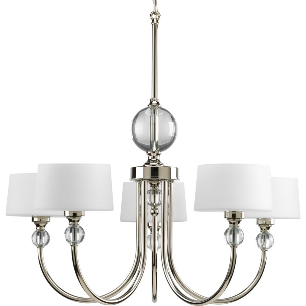 Fortune Collection Polished Nickel 5-light Chandelier