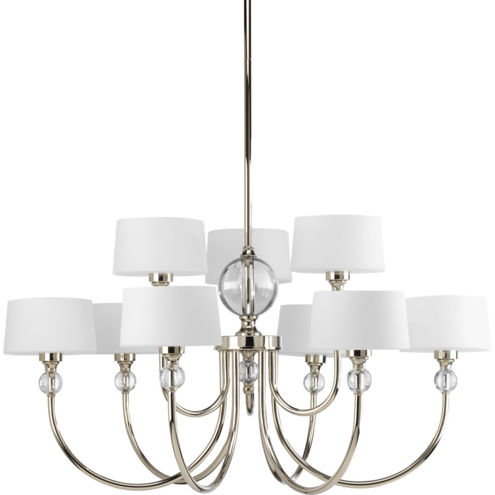Fortune Collection Polished Nickel 9-light Chandelier