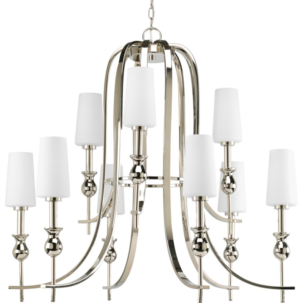 LadyLuck Collection Polished Nickel 9-light Chandelier
