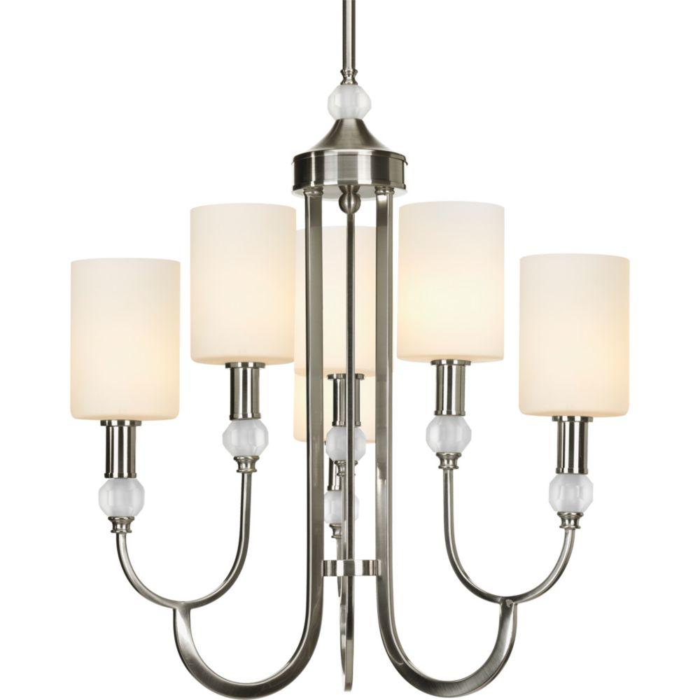 progress lighting lustre 6 lumi res collection splendid fini nickel bross home depot canada. Black Bedroom Furniture Sets. Home Design Ideas