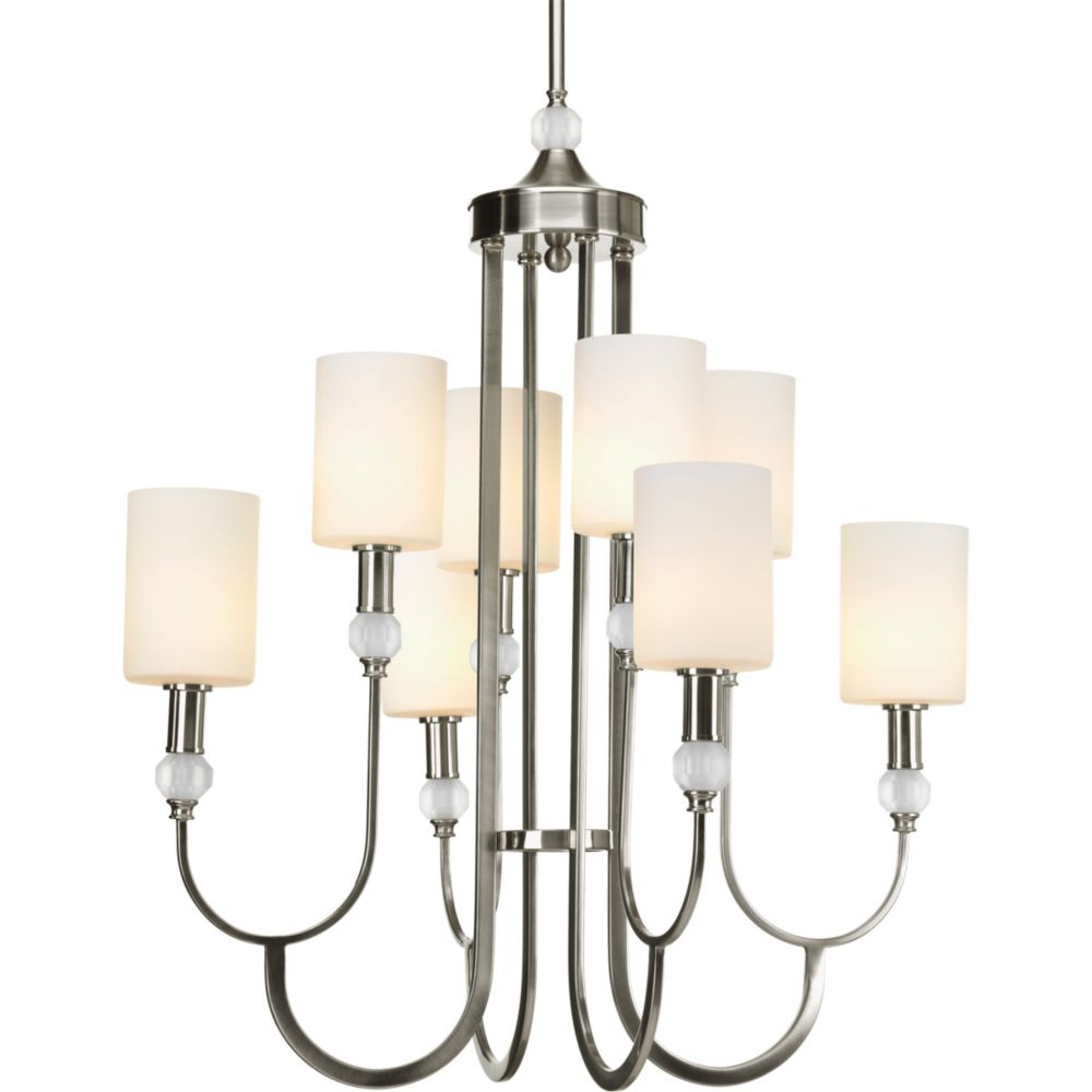 Splendid Collection 8-light Brushed Nickel Chandelier