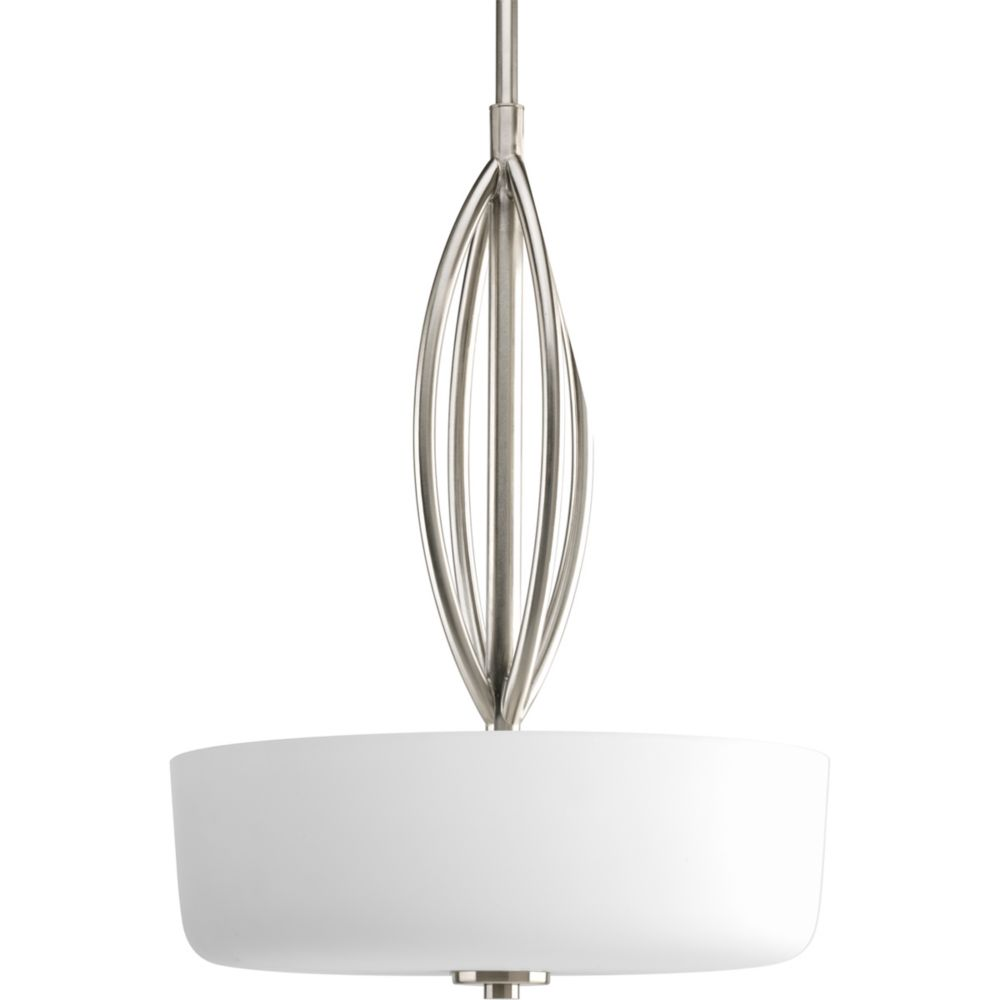 Calven Collection Brushed Nickel 3-light Pendant