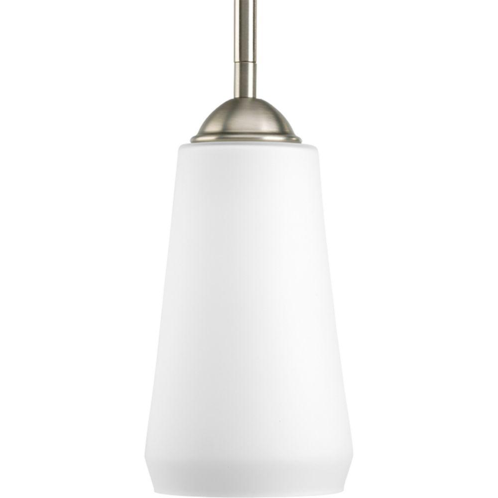 Mini suspension à 1 Lumière, Collection Moments - fini Nickel Ancien