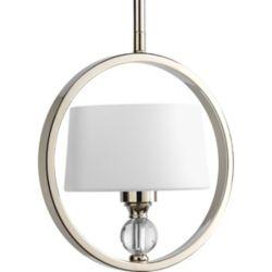 Progress Lighting Fortune Collection Polished Nickel 1-light Mini-Pendant