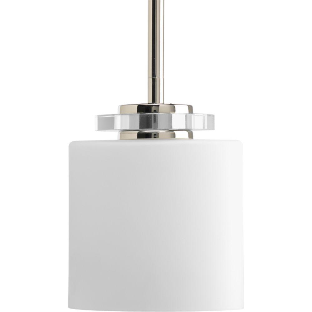 Mini suspension à 1 Lumière, Collection Nisse - fini Nickel Astiqué