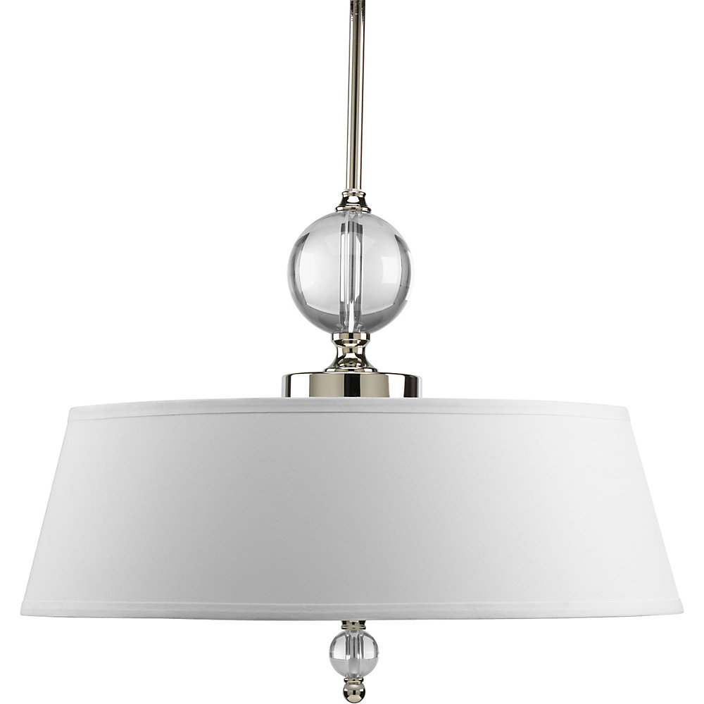 Fortune Collection 3-light Pendant in Polished Nickel