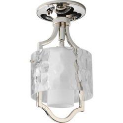 Progress Lighting Caress Collection Polished Nickel 1-light Mini-Pendant