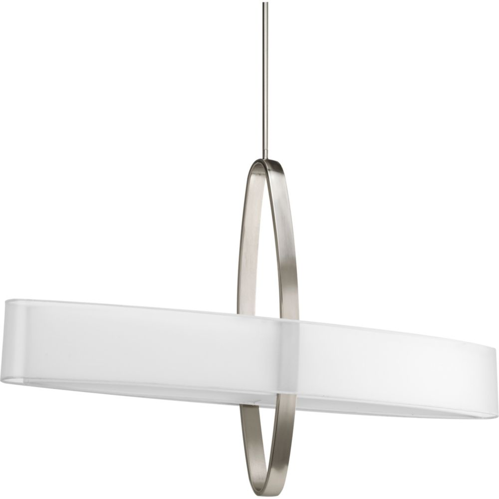 Cuddle Collection Brushed Nickel 6-light Pendant