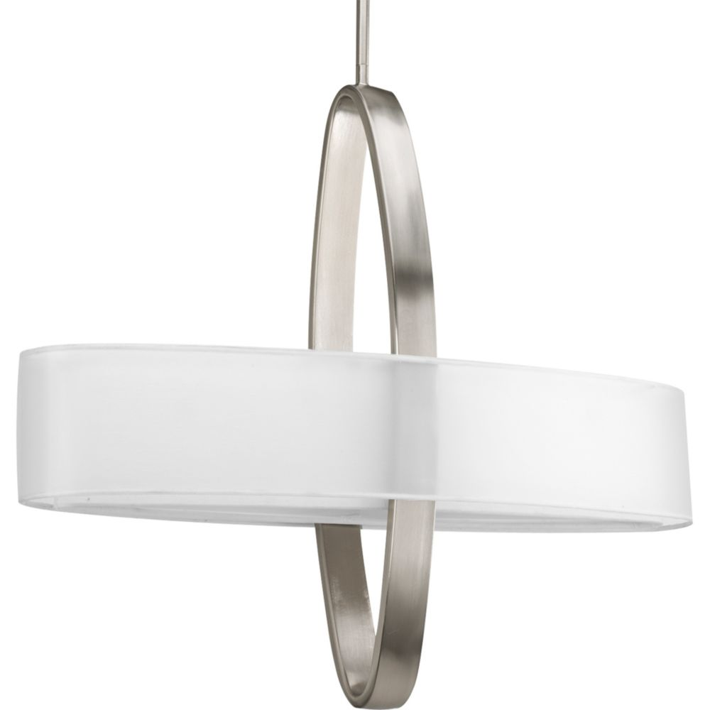 Cuddle Collection Brushed Nickel 2-light Fluorescent Pendant