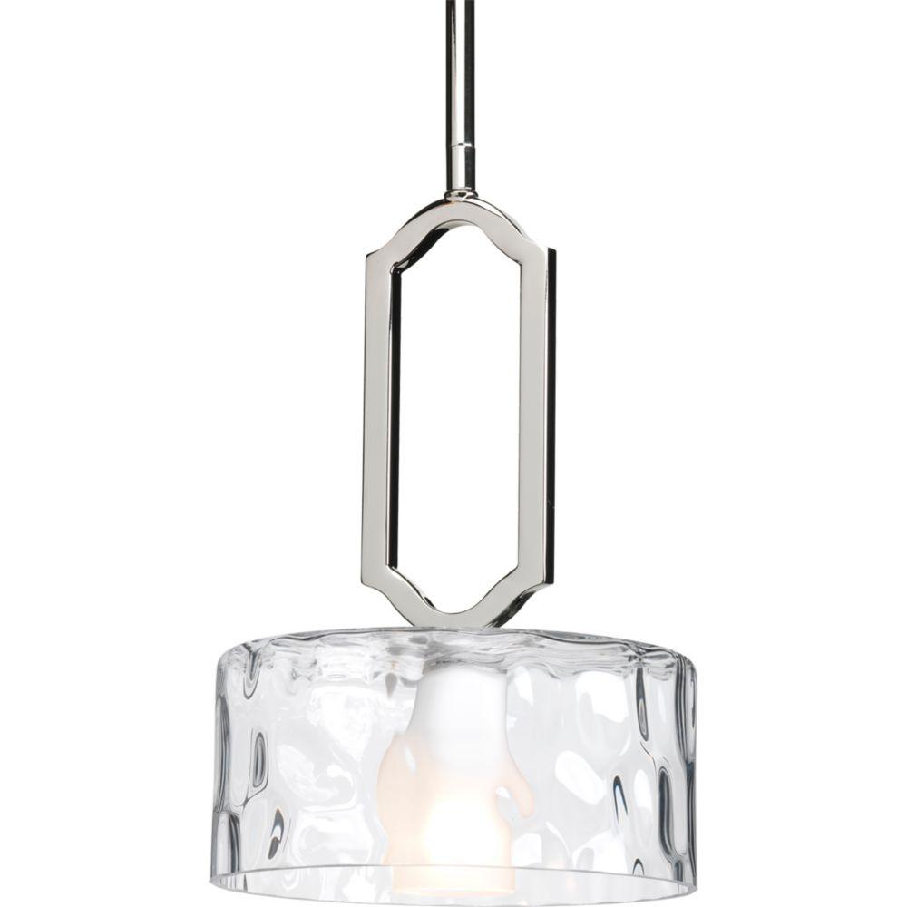 Mini suspension à 1 Lumière, Collection Caress - fini Nickel Astiqué
