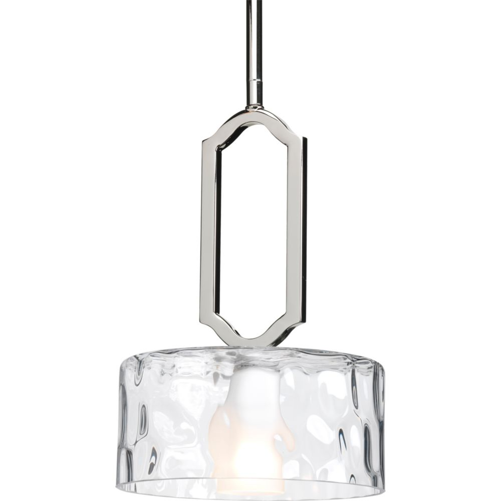 Caress Collection 1-light Polished Nickel Mini-Pendant
