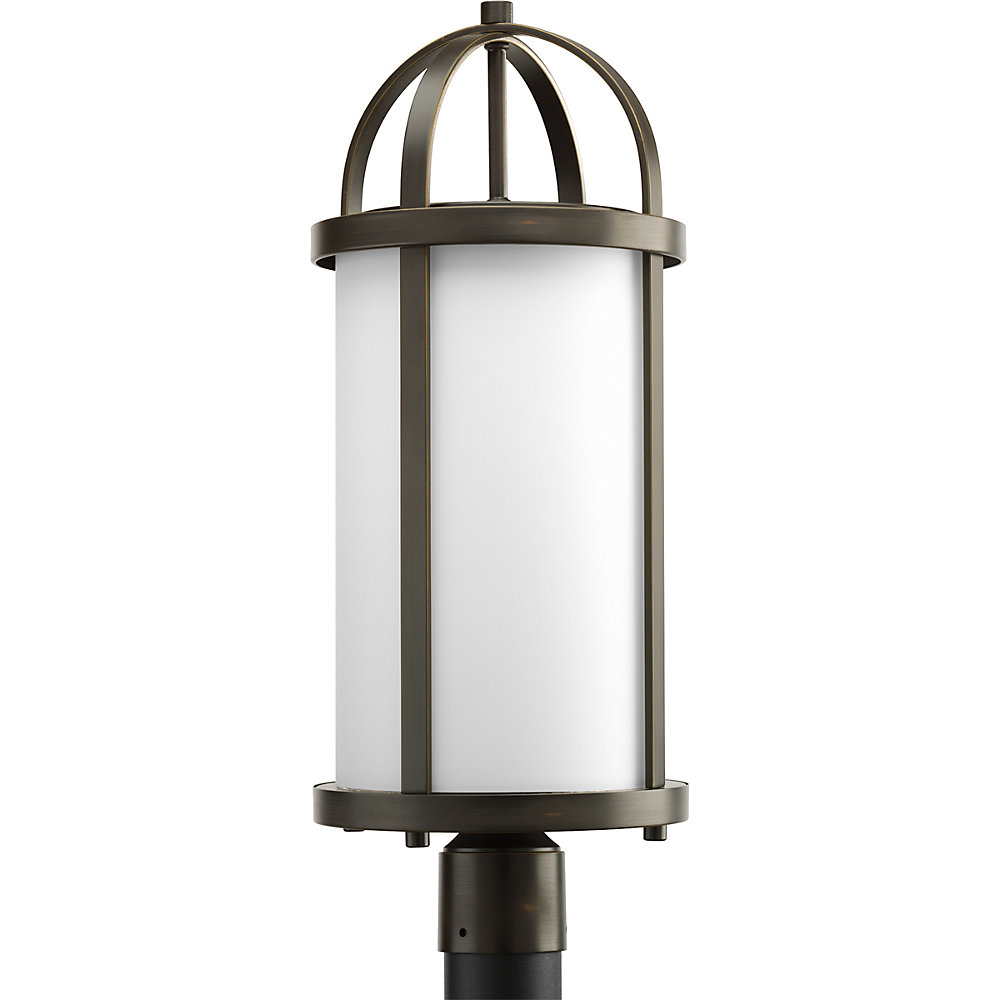 Greetings Collection Antique Bronze 1-light Post Lantern