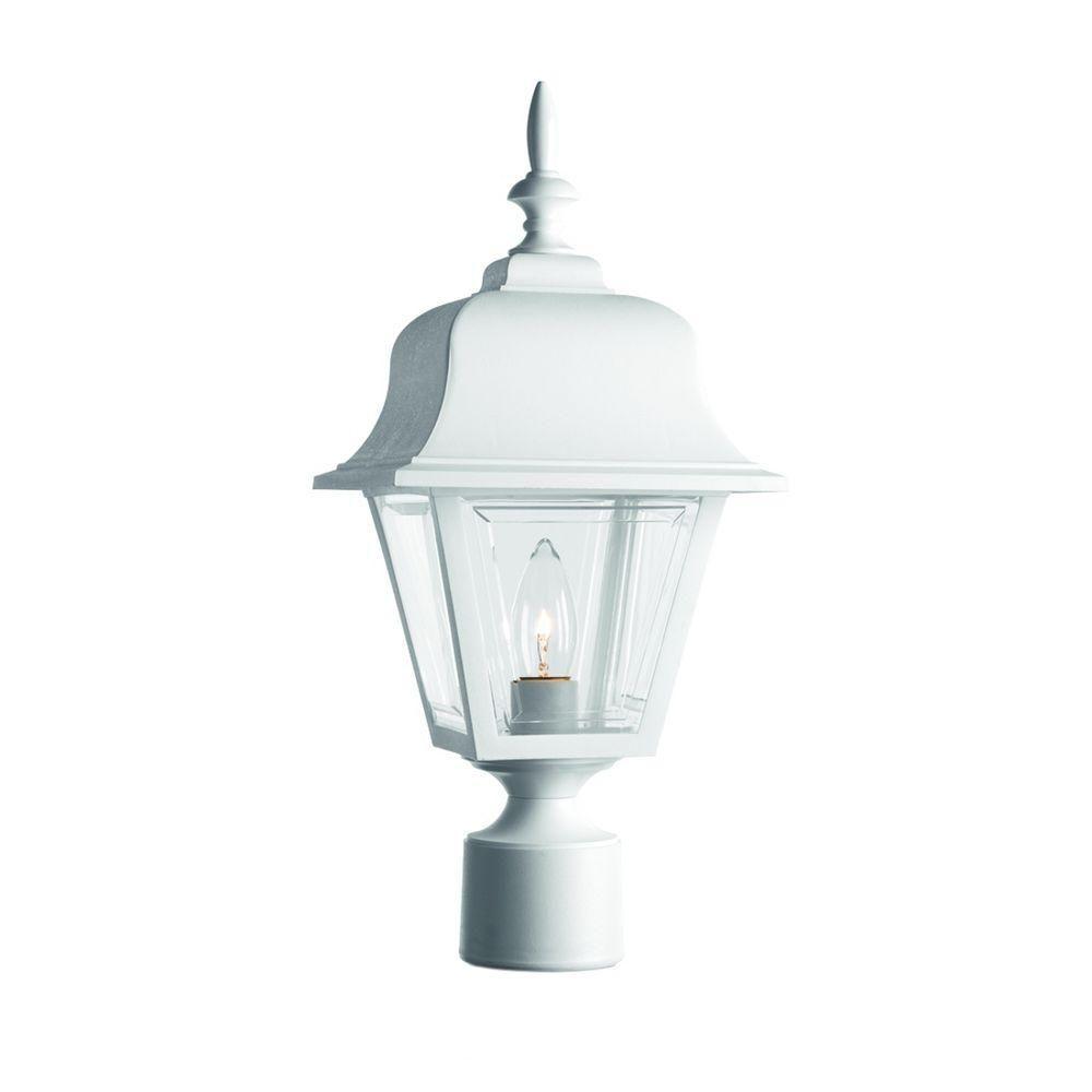 Progress Lighting 1-light White Post Lantern