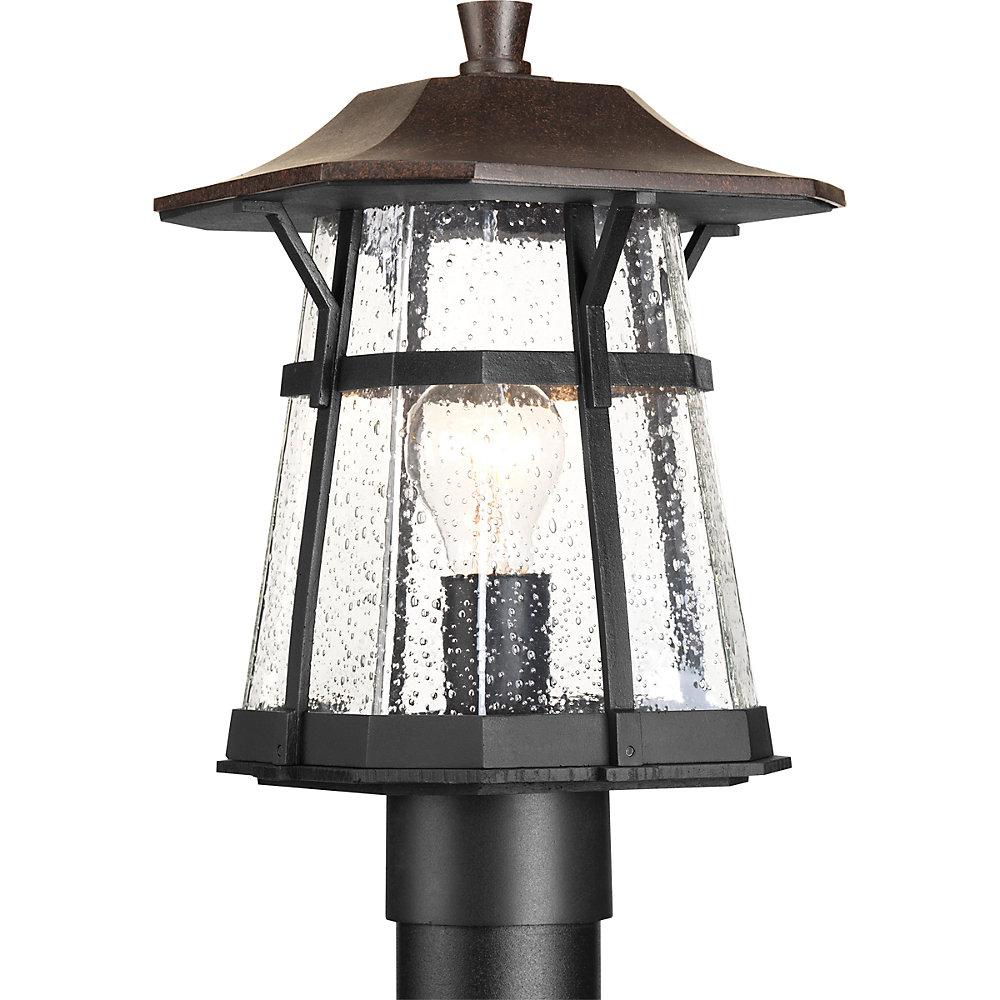 Derby Collection 1-light Espresso Post Lantern