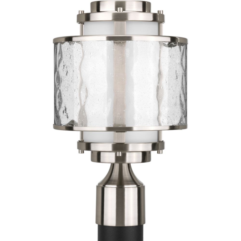 Bay Court Collection Brushed Nickel 1-light Post Lantern