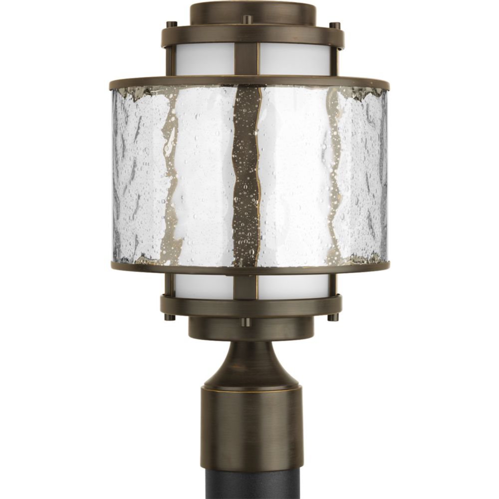 Bay Court Collection Antique Bronze 1-light Post Lantern