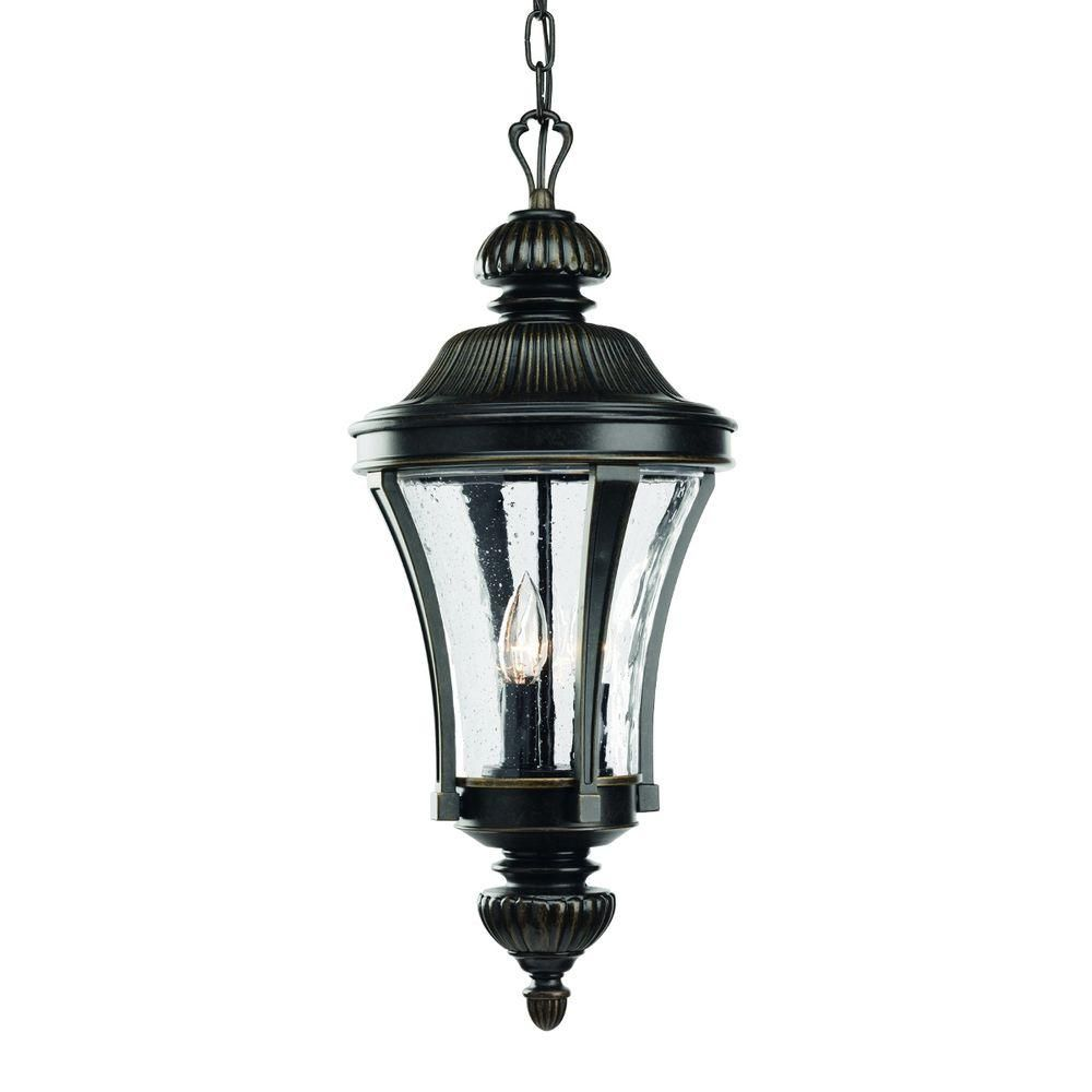 Nottington Collection 3-light Forged Bronze Hanging Lantern
