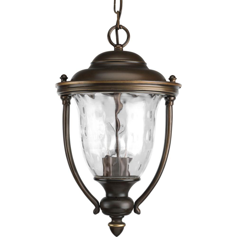 Lanterne suspendue à 2 Lumières, Collection Prestwick - fini Bronze frotté d'huile
