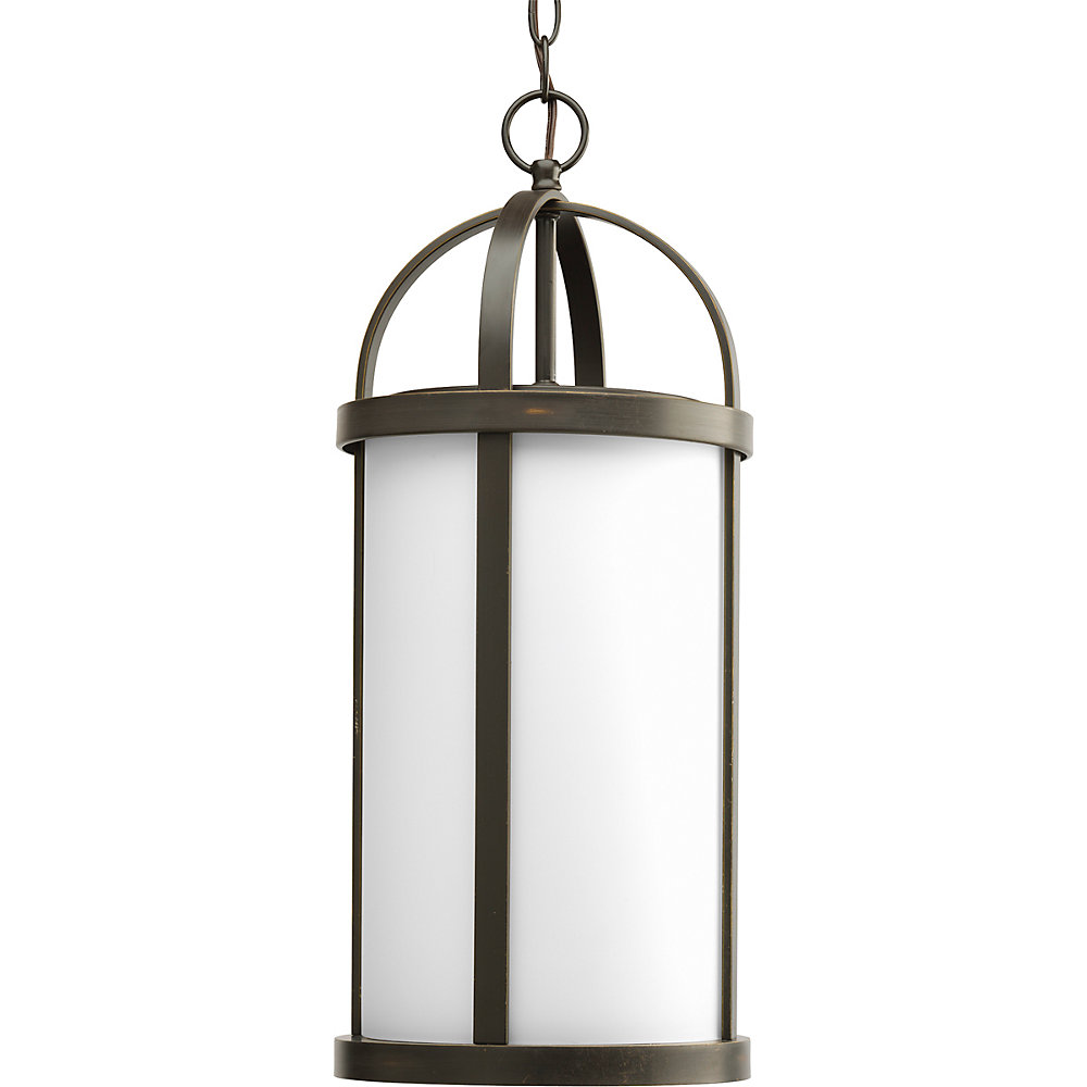 Greetings Collection Antique Bronze 1-light Hanging Lantern