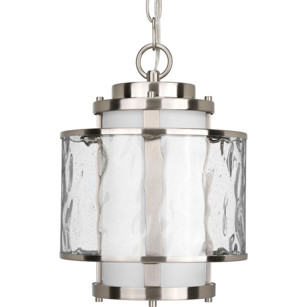 Bay Court Collection Brushed Nickel 1-light Hanging Lantern
