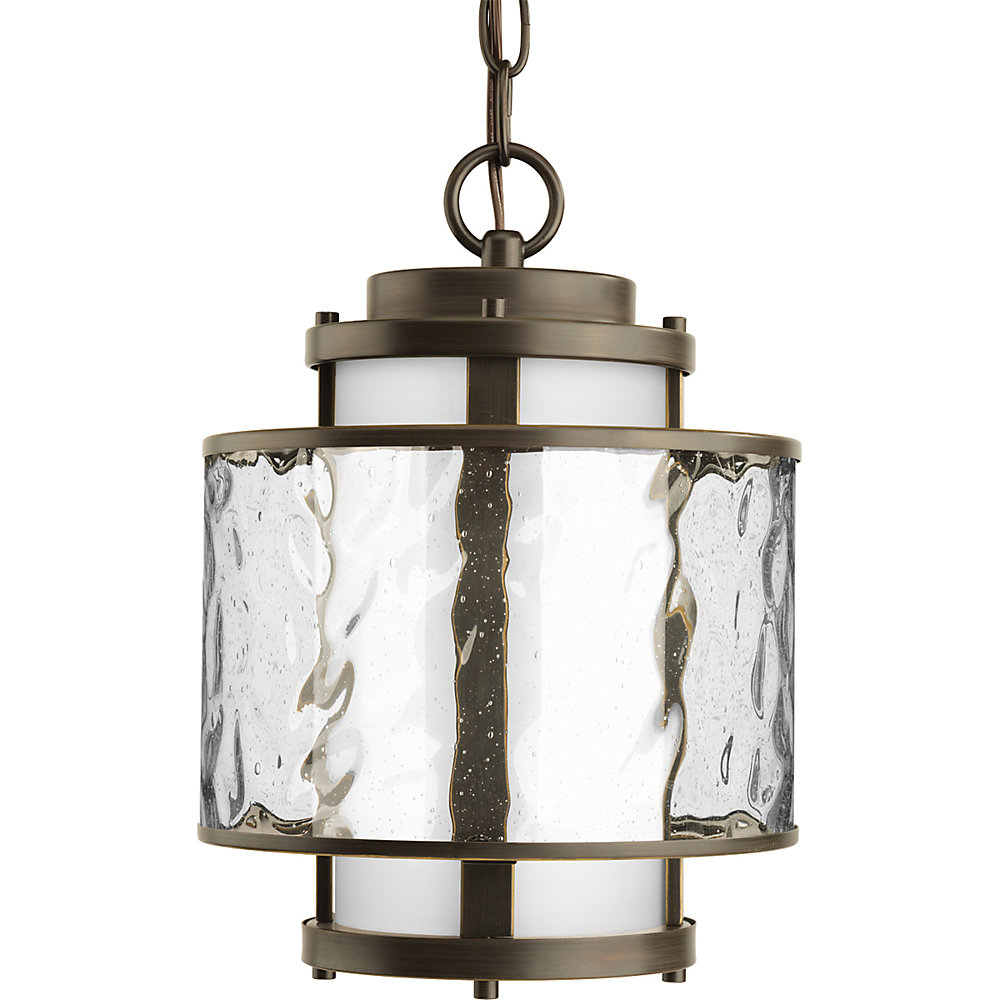 Bay Court Collection Antique Bronze 1-light Hanging Lantern