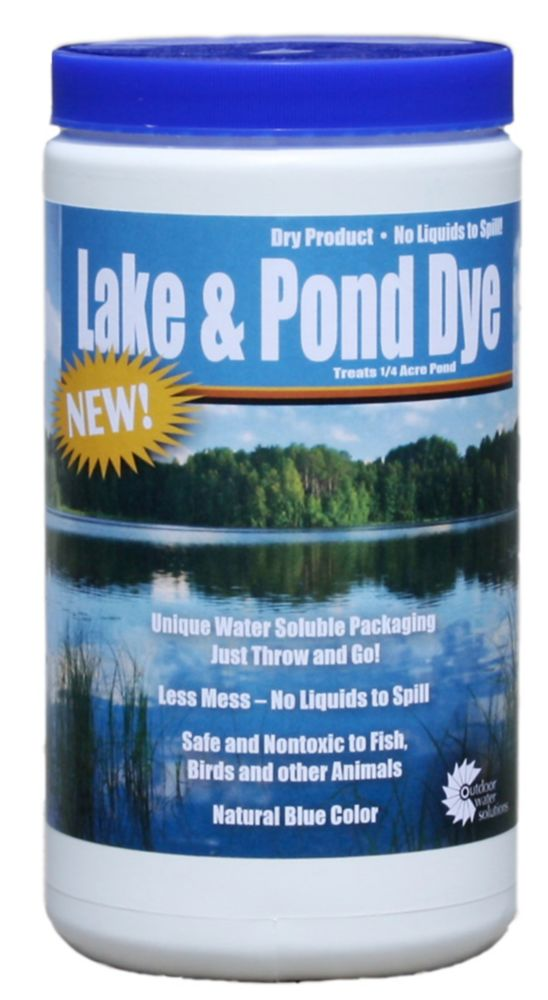 Colorant pour lacs et étangs, poche hydrosoluble sèche