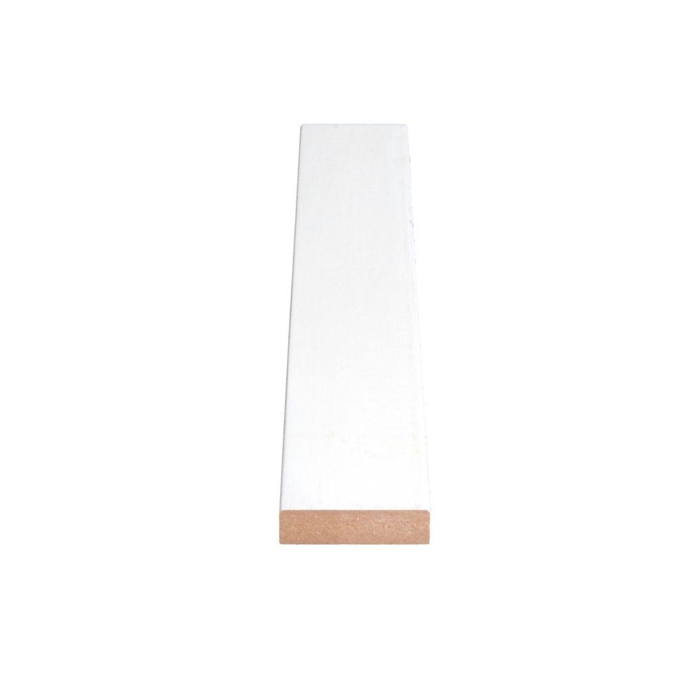 Primed Fiberboard Board S4S E2E 1 x 2 x 8 Feet