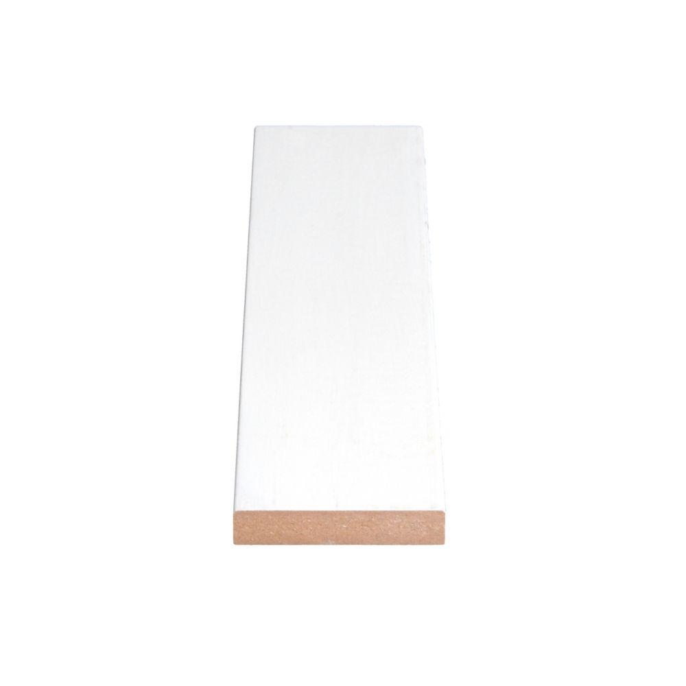 Primed Fiberboard Board S4S E2E 1 x 3 x16 Feet