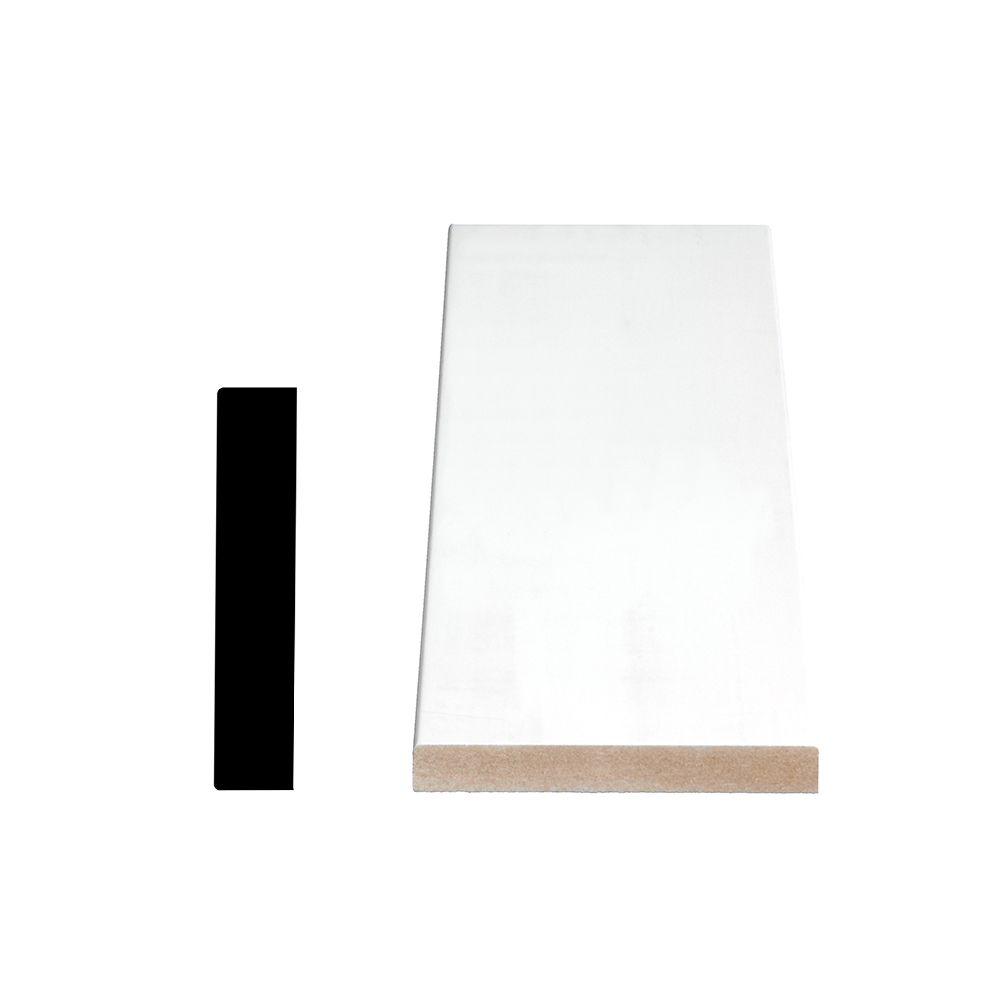 Alexandria Moulding Primed Fiberboard Board S4S E2E 1 x 4 x 16 Feet