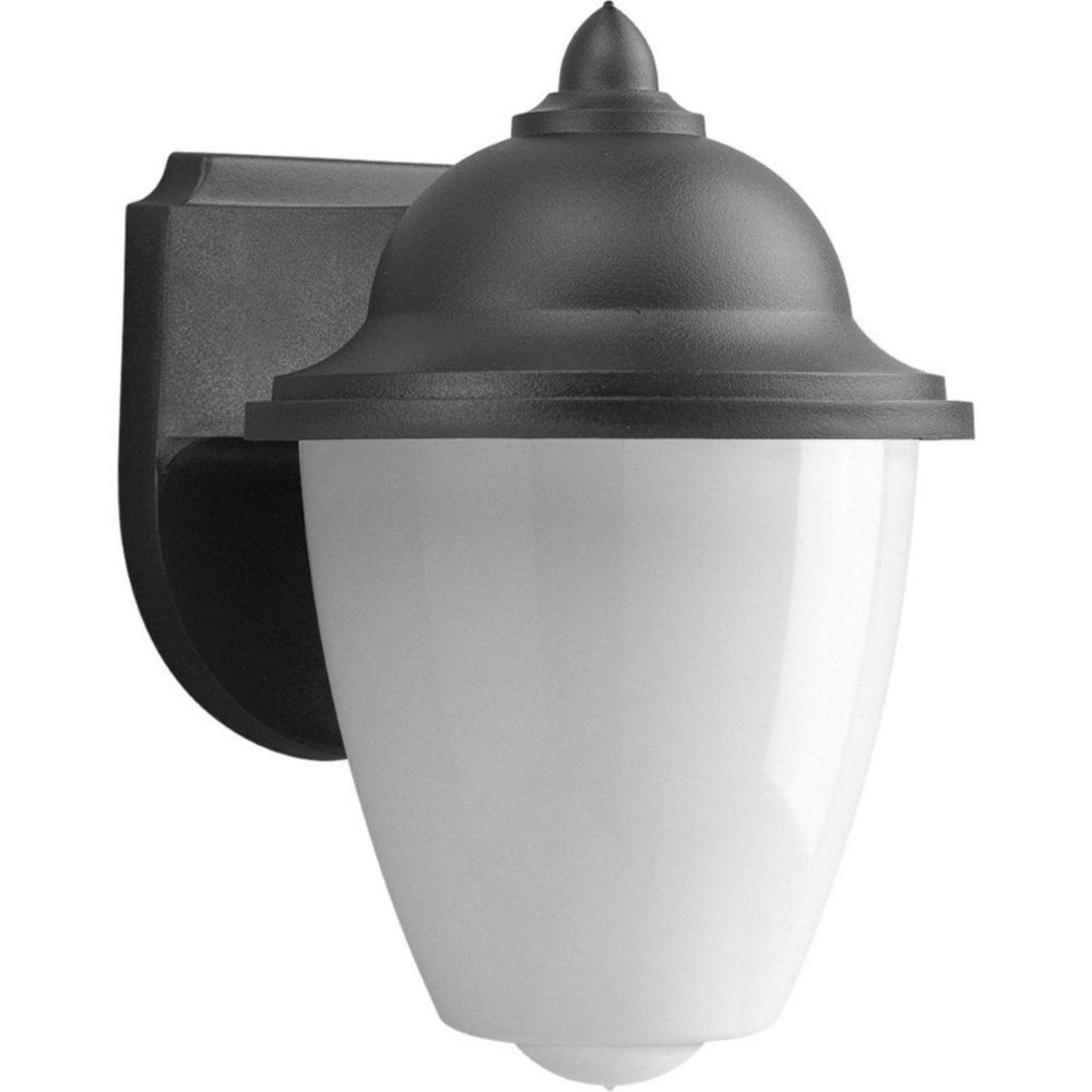 1-light Black Wall Lantern