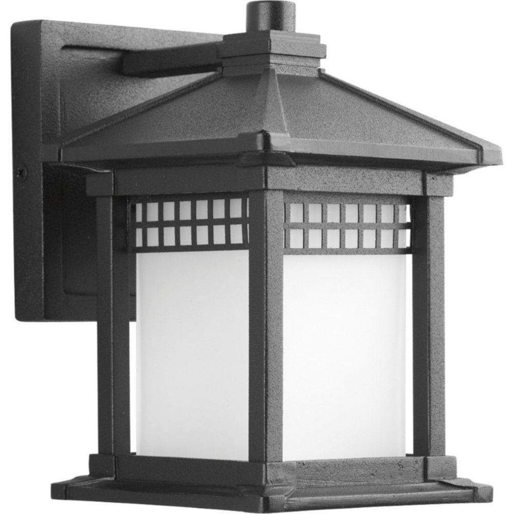 Merit Collection Black 1-light Wall Lantern