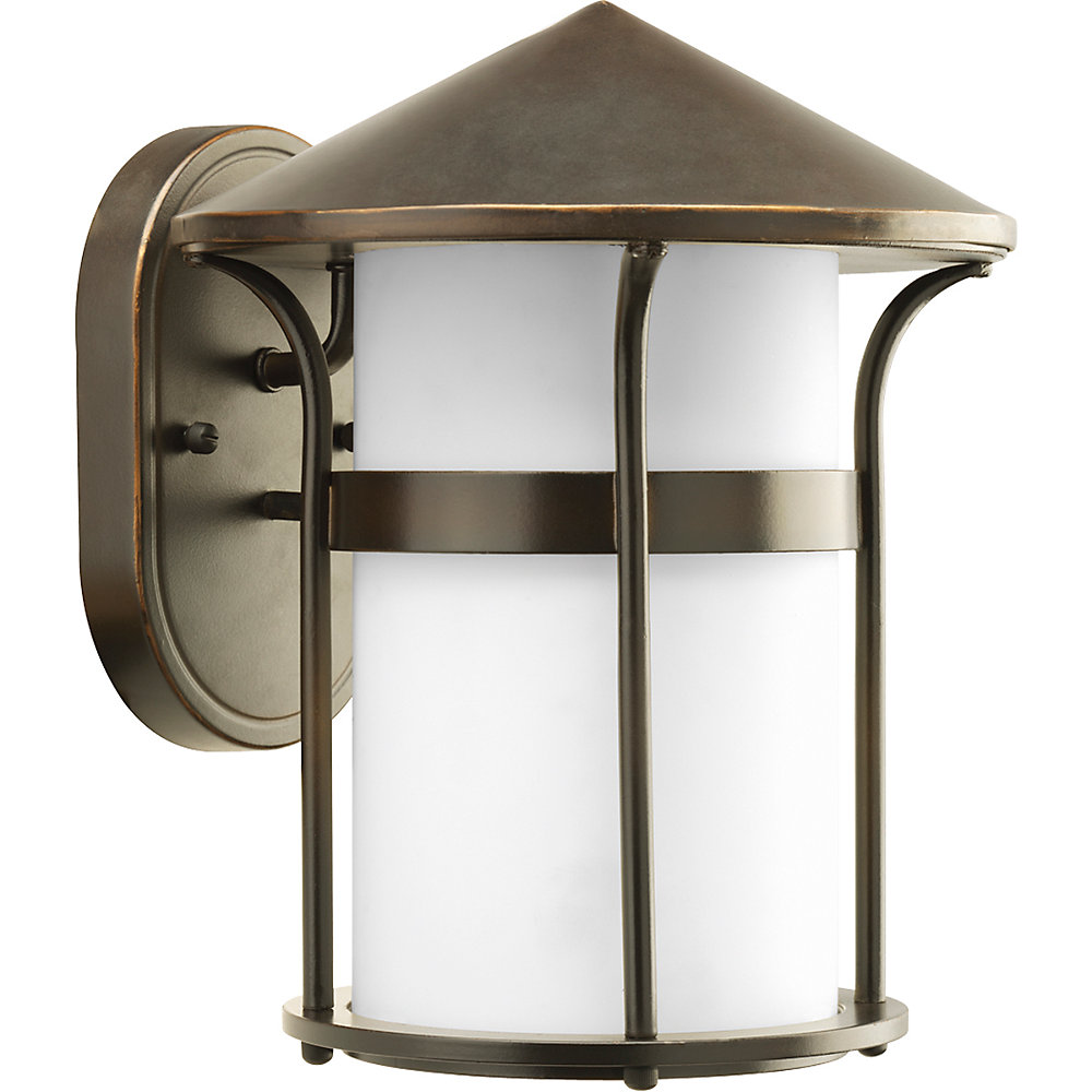 Welcome Collection Antique Bronze 1-light Wall Lantern