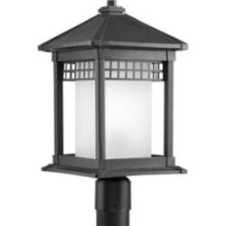 Progress Lighting Merit Collection Black 1-light Post Lantern