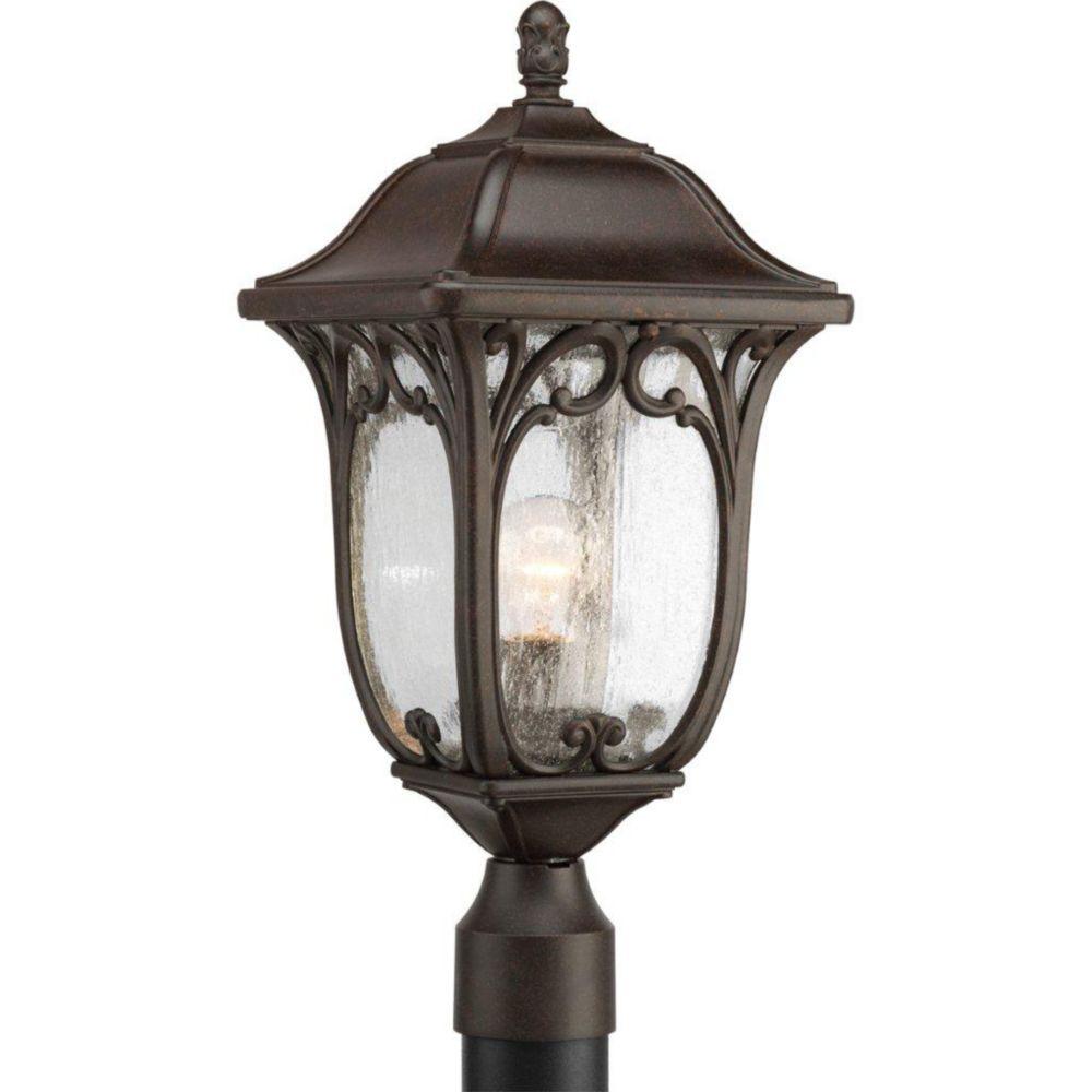Enchant Collection Espresso 1-light Post Lantern