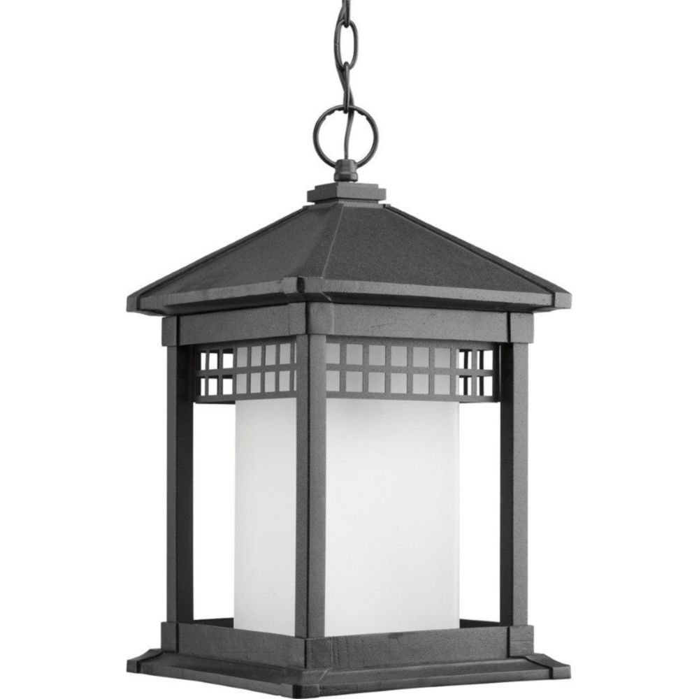 Merit Collection Black 1-light Hanging Lantern