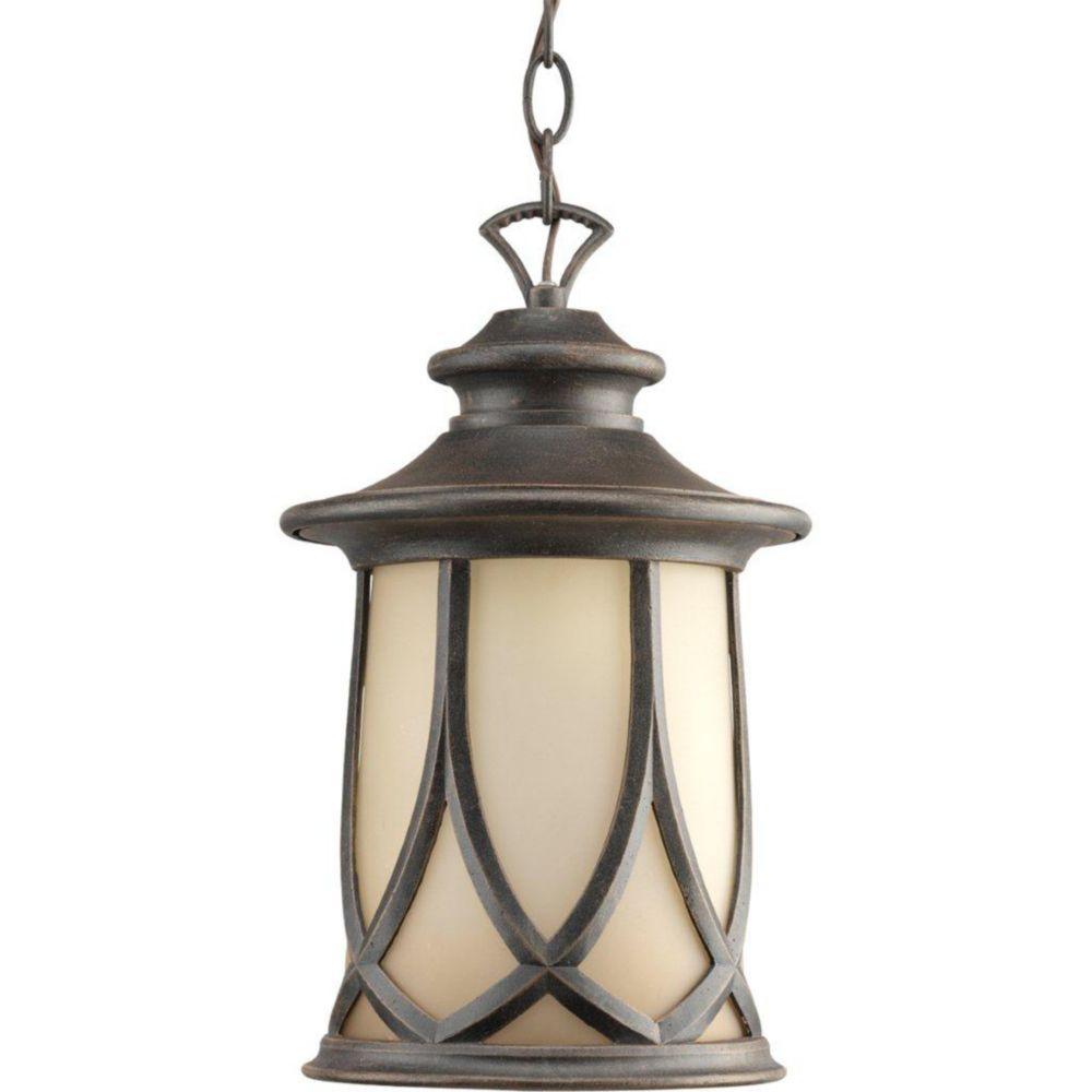 Lanterne suspendue à 1 Lumière, Collection Resort - fini Cuivre Vieilli