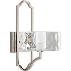 Progress Lighting Caress Collection Polished Nickel 1-light Wall Sconce