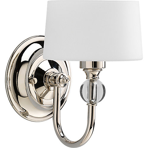 Fortune 1-light Wall Bracket in Polished Nickel