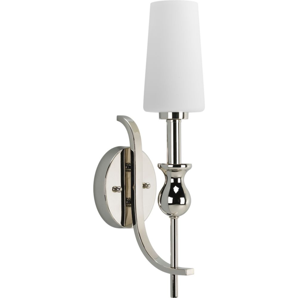 LadyLuck Collection Polished Nickel 1-light Wall Bracket