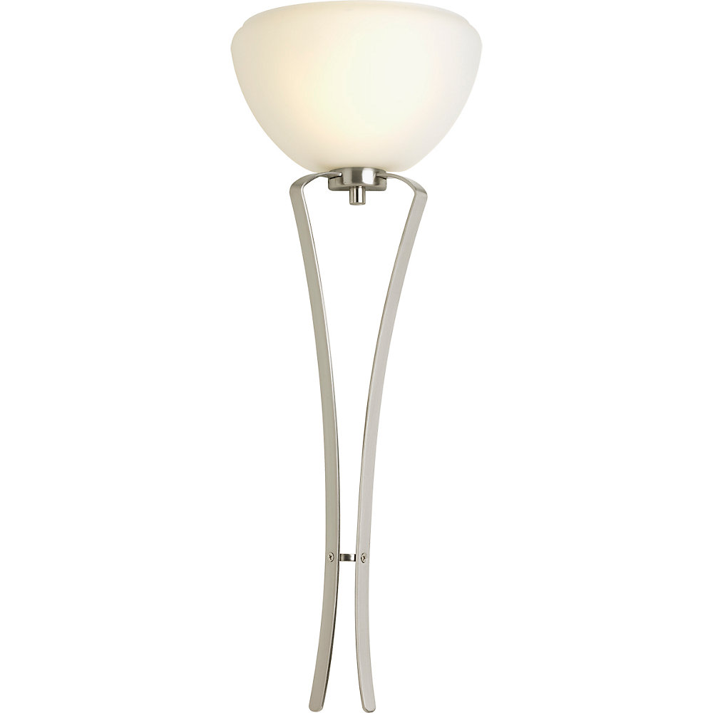 Rave Collection 1-light Brushed Nickel Fluorescent Wall Sconce