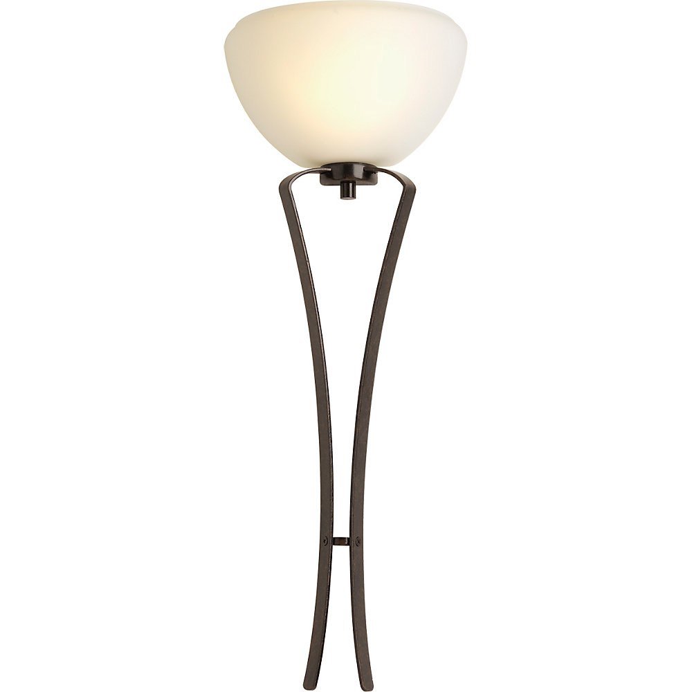 Rave Collection 1-light Forged Bronze Fluorescent Wall Sconce