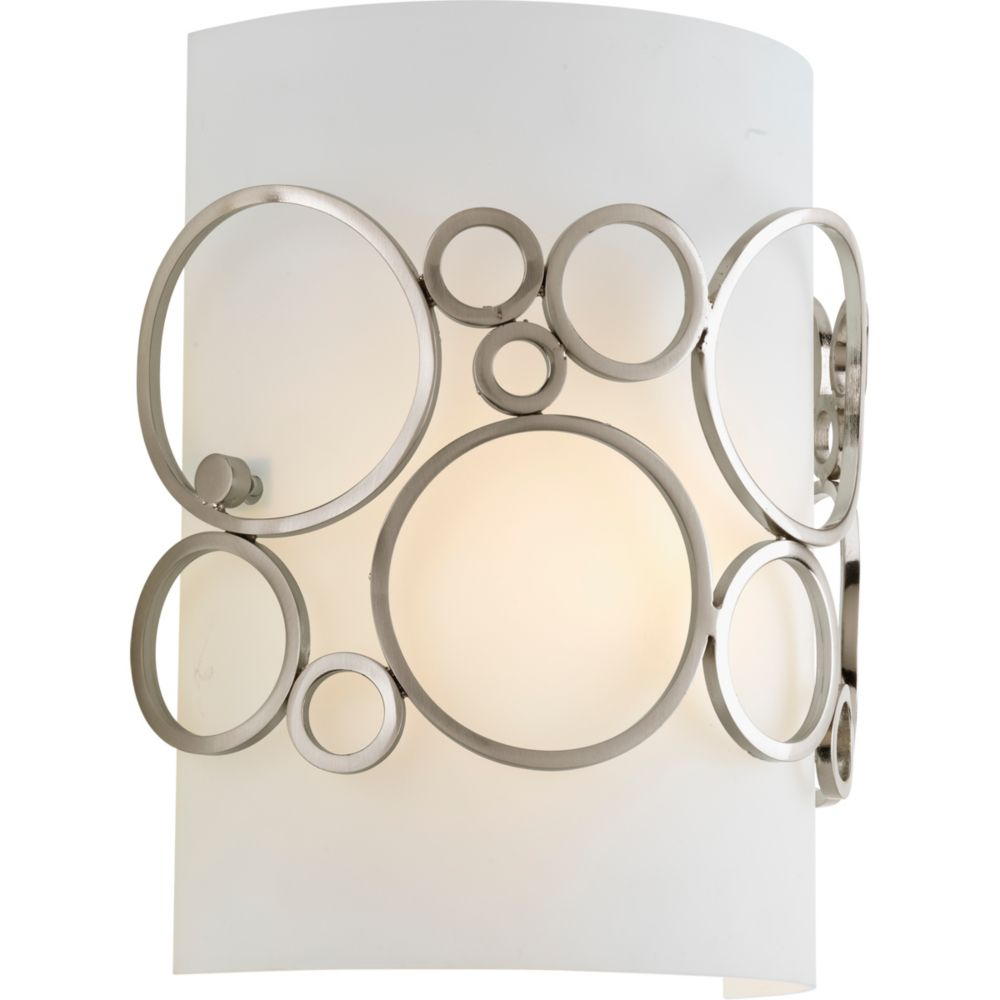 Progress Lighting Bingo Collection 1-light Brushed Nickel Wall Sconce