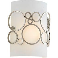 Progress Lighting Bingo Collection 1-light Brushed Nickel Wall Sconce