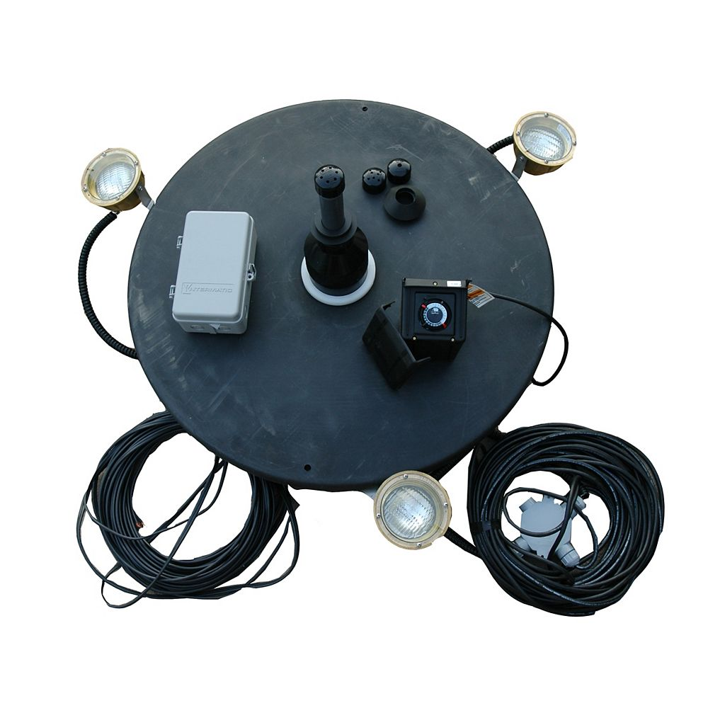 Outdoor Water Solutions 1-1/2 hp Fountain with Lights