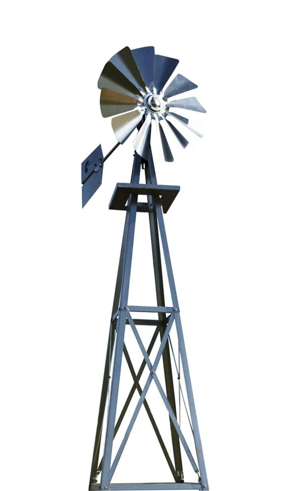 Galvanized Backyard Windmill - Small